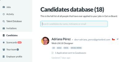 Candidate Database